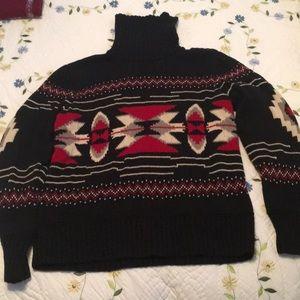 Chaps EUC Black & Red Sweater Sz XL